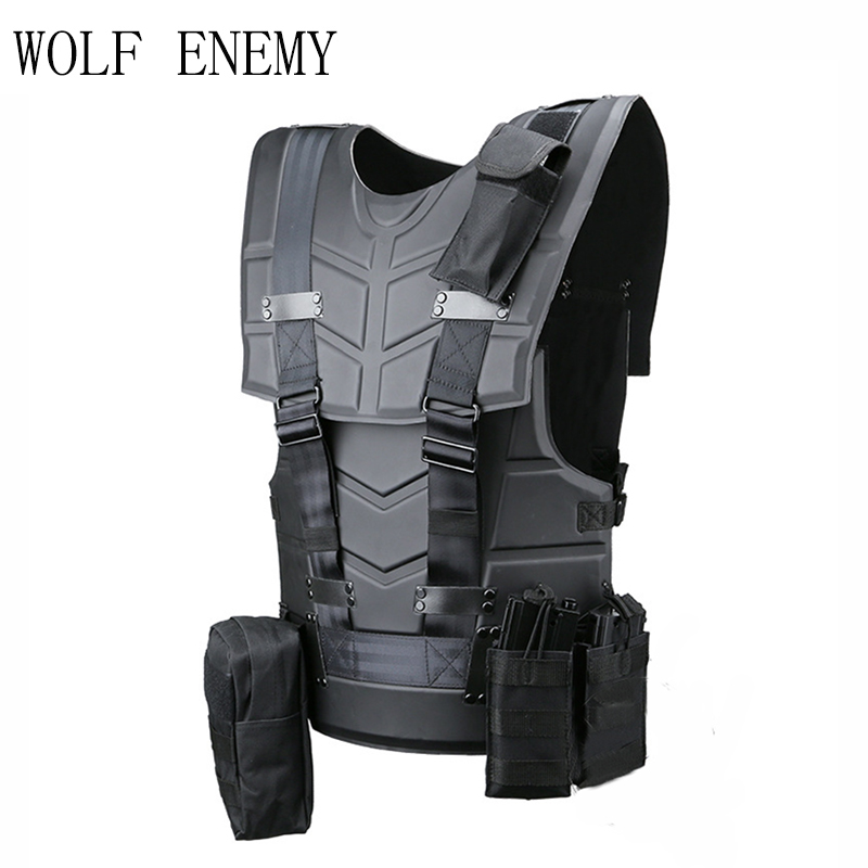Tactical Vest Multi-functional Body Armor Outdoor Airsoft Paintball Training Hunter CS Wargames Protected Vest airsoft adults cs field game skeleton warrior skull paintball mask