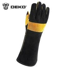 DEKO 15 Inch Leather Welding Gloves – For Tig Welders/Mig/Fireplace/Stove/BBQ/Gardening/Welding Mask/DIY Wood Working