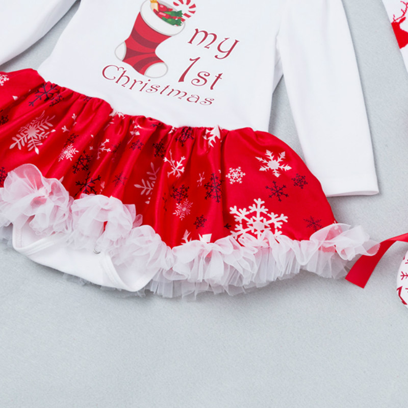 Newborn Girls Clothing Sets New Baby Girl Clothes Long Sleeve tutu dress Toddler Girl Clothes Christma Princess Suits 0 2T in Clothing Sets from Mother Kids