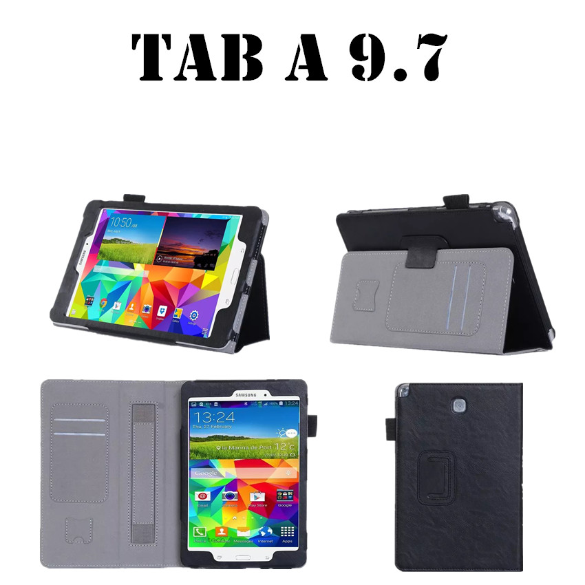 NEW case For Galaxy Tab A Stand Wallet Leather Case For Samsung Galaxy Tab A 9.7 T550 T551 Tablet Cover Case +protectors