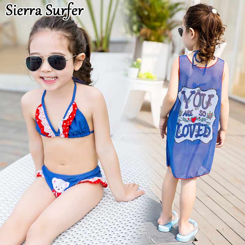Two Piece 2 Swimsuit For Girl Children Cute Kids Swimsuits ...