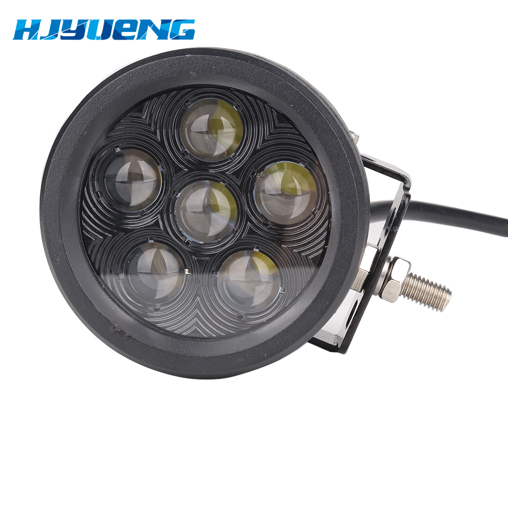 """Image 2 - 1pc 18W 3.5"""" Round Led Work Light Off road Driving Pod Spotlight Fog lights for Jeep SUV ATV Boats Cars Trucks,Forklift,Trains-in Light Bar/Work Light from Automobiles & Motorcycles"""