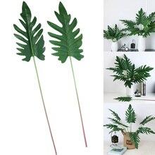 Прекрасные Искусственные растения, искусственные листья, украшения для сада, офиса, вечерние, свадебные@ LS