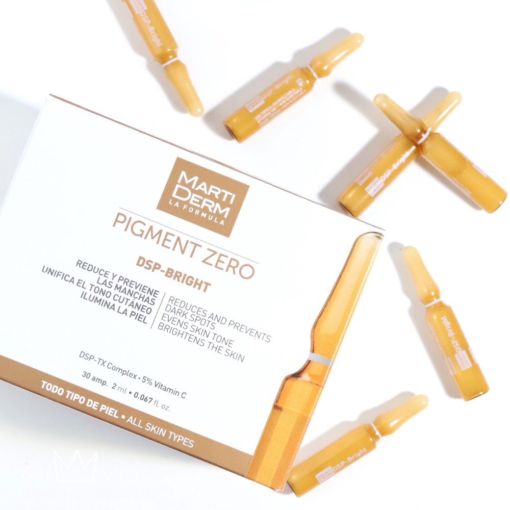 Original Martiderm Pigment Zero DSP-Bright Dark Spots Ampoules 30x2ml Face Freckle Remove Whitening Serum