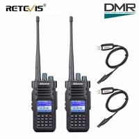 """מכשיר הקשר שני 2pcs Retevis Ailunce HD1 DMR Dual Band דיגיטלי שני הדרך רדיו מכשיר הקשר 10W IP67 GPS VHF UHF Ham Radio אמאדור Hf מקמ""""ש (1)"""