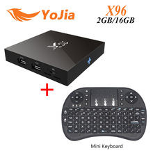 [Auténtica] X96 S905X Amlogic Quad Core Android 6.0 TV Box 4 K 2 GB 16 GB 2.4G Wifi HDMI Smart TV Media Player Miracast KODI 2.0A