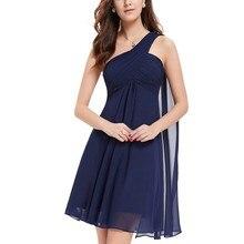 [Распродажа] коктейльные платья Ever Pretty HE03537 шифоновые короткие коктейльные платья с оборками на одно плечо