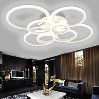 Белый круглая оправа современный светодио дный потолочные светильники гостиной столовой Спальня дома светильники поверхностного монтажа