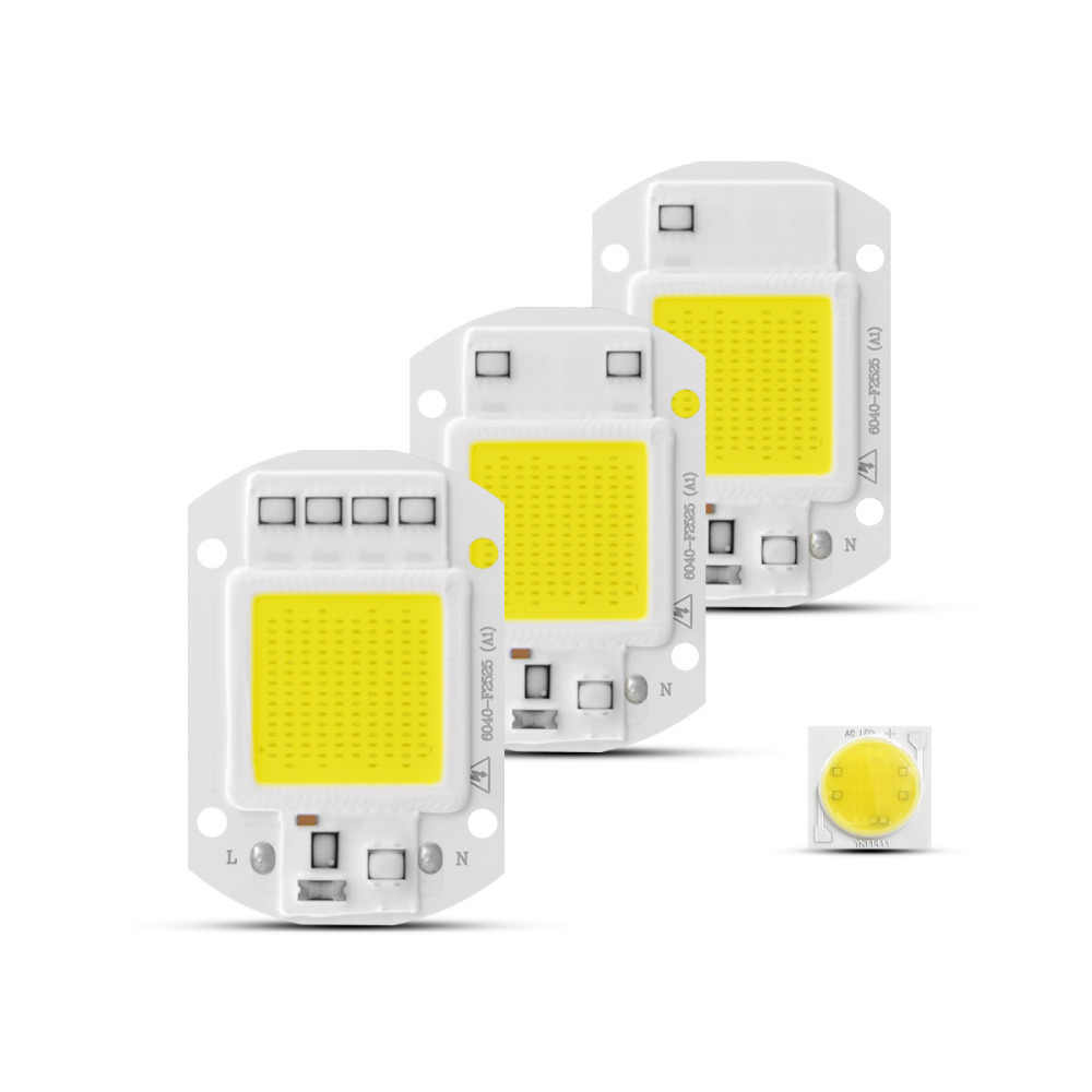 COB LED Chip AC220V 3W 5W 7W 9W 20W 30W 50W Smart IC No Driver COB LED Diode LED Bulb Lamp DIY Outdoor Floodlight Spotlight