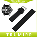 20mm 22mm 24mm Silicone Rubber Watch Band for Diesel Men Women Stainless Steel Pin Buckle Strap Wrist Belt Bracelet Black White