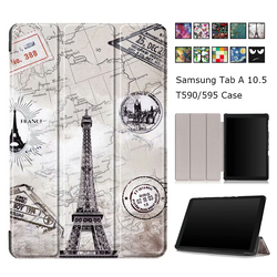 Fashion Flip Smart Case for Samsung Galaxy Tab A 10.5 2018 SM-T590 SM-T595 T590 T595 High Quality Cover for Samsung Tab A 10.5