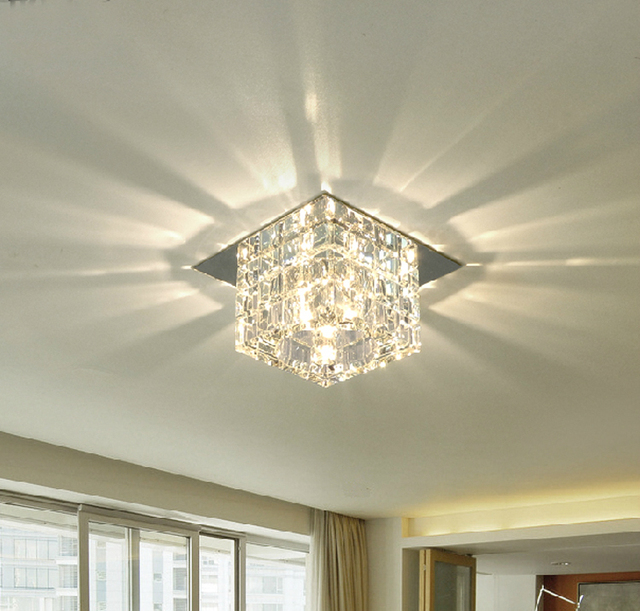 surface mounted led ceiling lights corridor lamps Square crystal led  ceilling Recessed Kitchen Bathroom Lamp led. Aliexpress com   Buy surface mounted led ceiling lights corridor