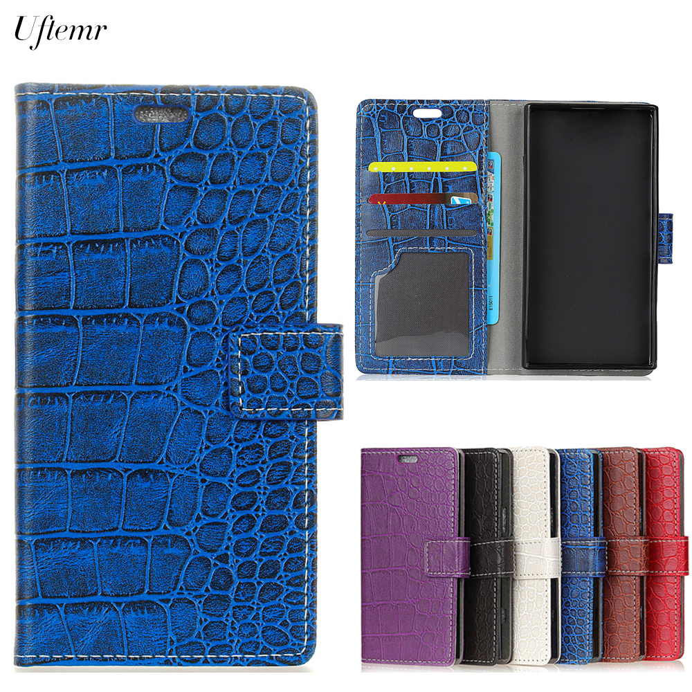 Uftemr Vintage Crocodile PU Leather Cover For Wiko Lenny 4 Protective Silicone Case Wallet Card Slot Phone Acessories