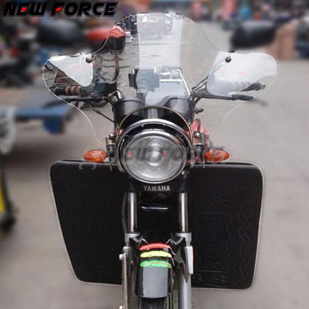 Pare-brise universel pour Harley Davidson Sportster XL883 XL1200 Dyna large glisse personnalisé Chopper croiseurs moto