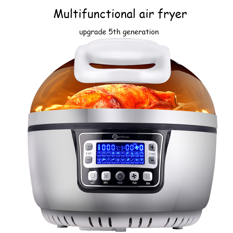 Multi - functional air fryer home oven 10L large capacity  intelligent electric frying p ...