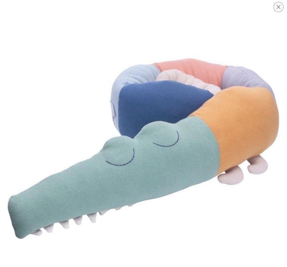 185 см качественная серая детская кроватка бампер Подушка детская подушка-крокодил Подушка детская кровать забор Детская комната украшения игрушки - Цвет: Length 185cm