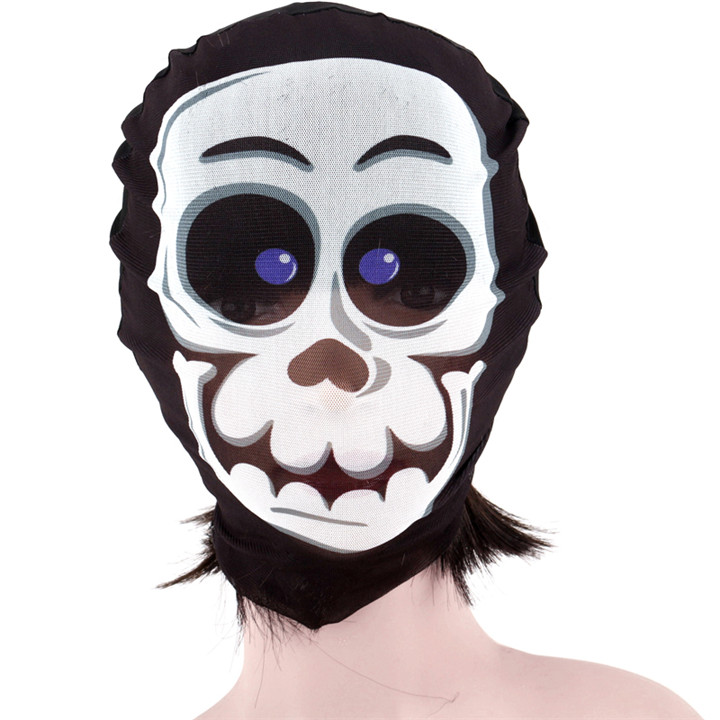 7 Full Face Halloween Fabric Skull Mask For Women Sexy Party Mask Scary Cosplay Headgear Masquerade Mask For Men Party Decorations