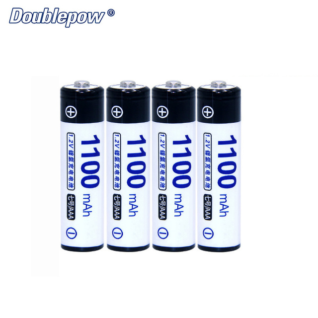 4pcs/Lot Doublepow DP-AAA1100mA 1.2V Ni-MH Rechargeable Battery in Actual High Capacity of 1100mA Battery Cell FREE SHIPPING