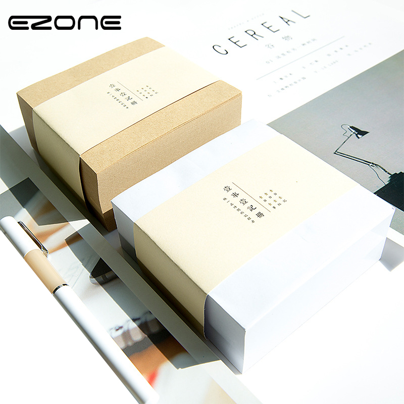 EZONE 400 Sheets Thick Memo Pad Sticky Notes 10*10cm DIY Paper Stationery Planner Notepads Office School Supplies Papelaria 200 sheets 2 boxes 2 sets vintage kraft paper cards notes filofax memo pads office supplies school office stationery papelaria