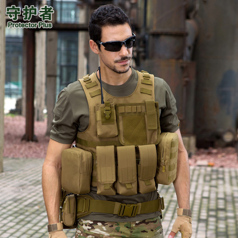 Protecto Plus Large Capacity Adjustable Multifunction Out Door Travel waterproof Vest Camouflage Nylon Tactics Molle System Vest 70 to 85l big large capacity adjustable multifunction out door travel backpack camouflage nylon tactics molle system rucksack