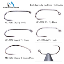 Maximumcatch 100 шт. 10#12#14#16#18# рыболовные крючки для привязывания сухих и влажных и нимфа и креветок Caddis Pupa рыболовные крючки