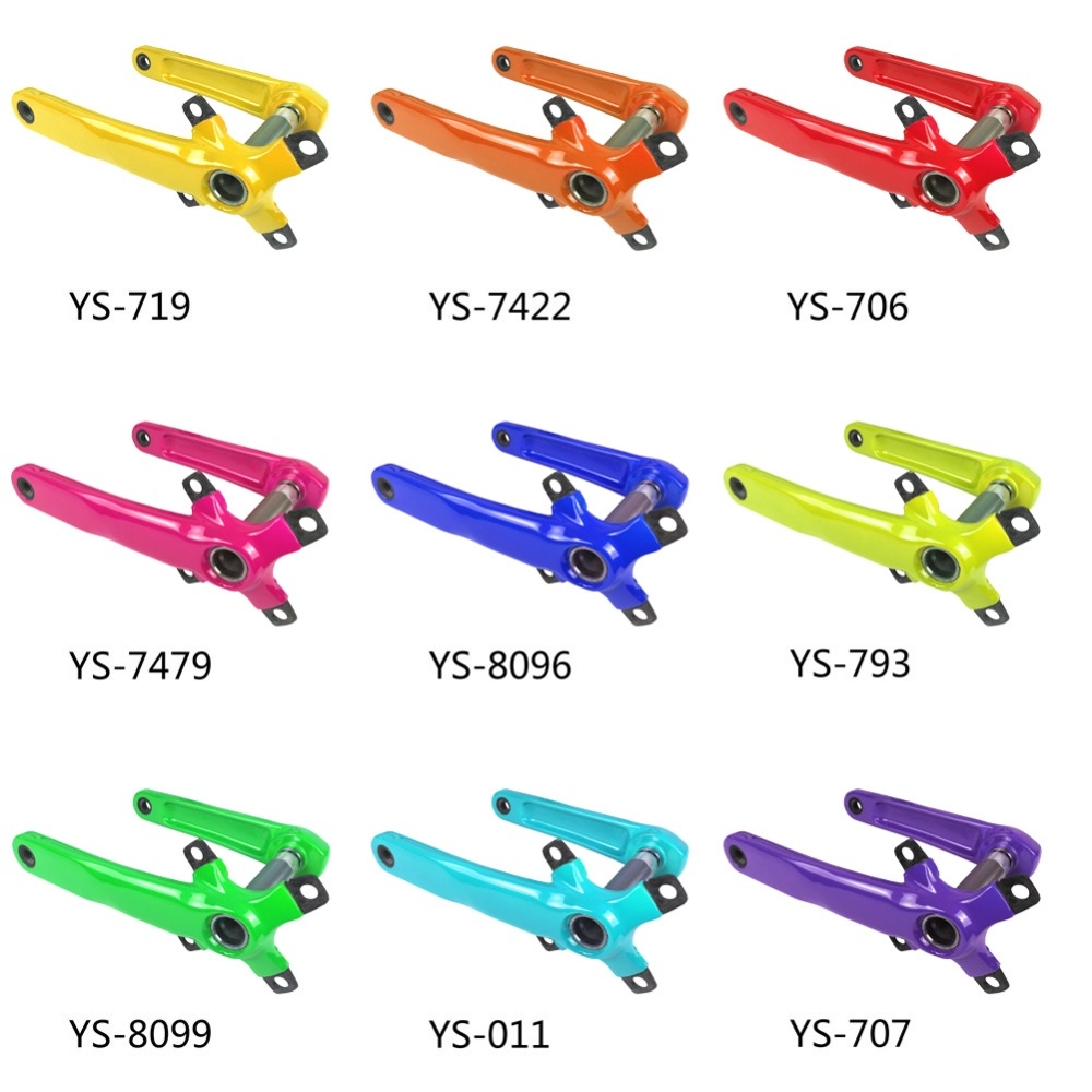 SmileTeam Full Carbon Mountain Bike Cranks Carbon MTB Bicycle Crankset Length 170mm/175mm BCD 104mm OEM Bike Parts 9 Colors west biking bike chain wheel 39 53t bicycle crank 170 175mm fit speed 9 mtb road bike cycling bicycle crank