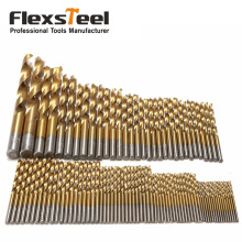 цена на 3mm - 10mm Titanium Coated Manual Twist Drill Set HSS High Speed Steel Drill Bit Set Tool for Metal Woodworking Brocas