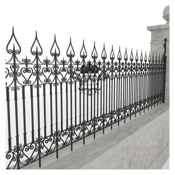 Iron Fence Panels >> Fence Panels Steel Fence Post Metal Fence Panels In Fencing