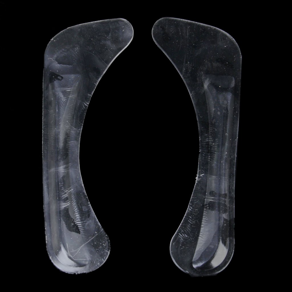 NEWBRAND 1 Pair of Adjustable Gel Silicone Correction Shoe Inserts Clear