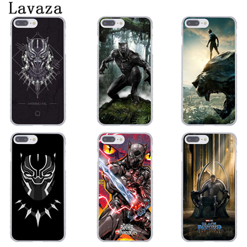 MOGADISCIO Coque Black Panther Marvel Comics Coque de Telephone pour Apple iPhone 6 6 s 7 8 Plus 4 4S 5 5S SE 5C Couverture pour iPhone XS Max XR 1