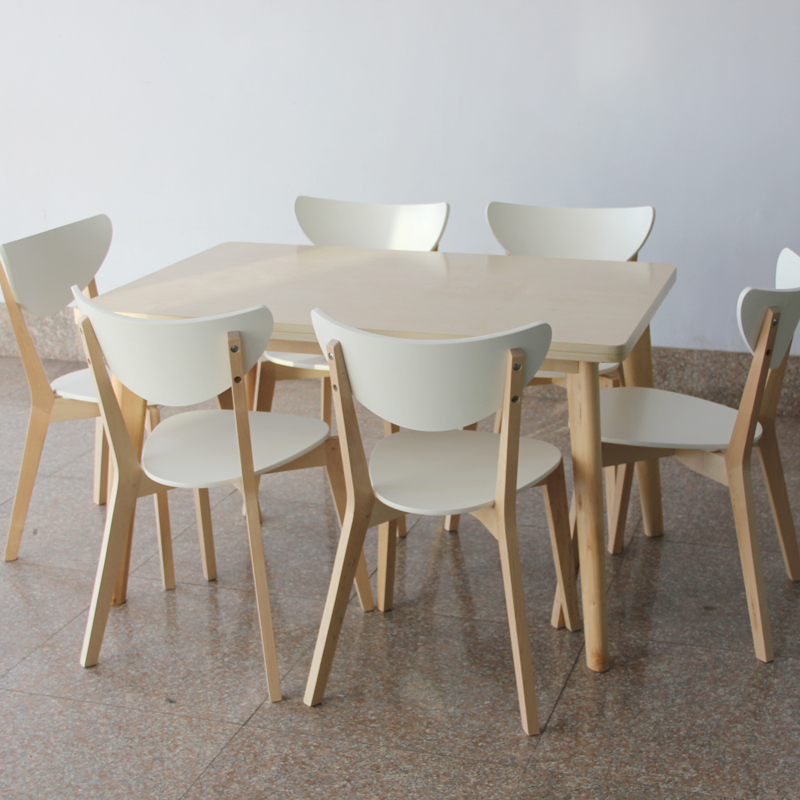 IKEA Style Birch Dinette Table Chair Dining And Four Chairs Six Simple Fashion Korean Furniture In Nail Tables From On Aliexpress