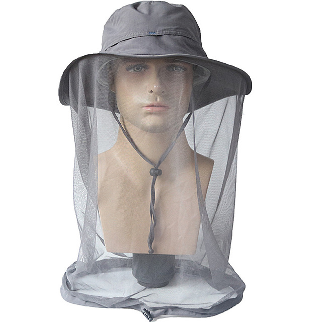 0cb4716b67069 Outdoor Camping Hat Mosquito Net Mesh Face Protector Insect Outdoor Fishing  Cap Camp Equipment Bucket Hat Wide Brim Sun Caps
