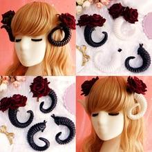 Cosplay Prop Headband Hair-Clip Devil-Horn Hairband-Sheep-Horn Gothic Lolita P