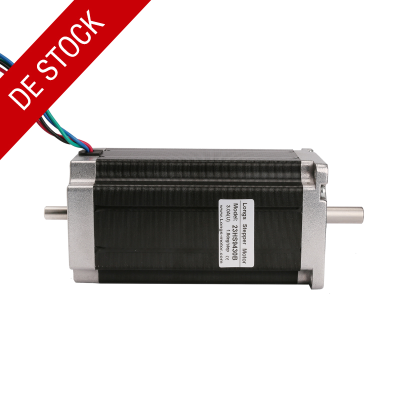 Free ship from Germany LONGS Motor 1PC Nema23 Stepper Motor 23HS9430B Dual Shaft 4 Lead 425oz