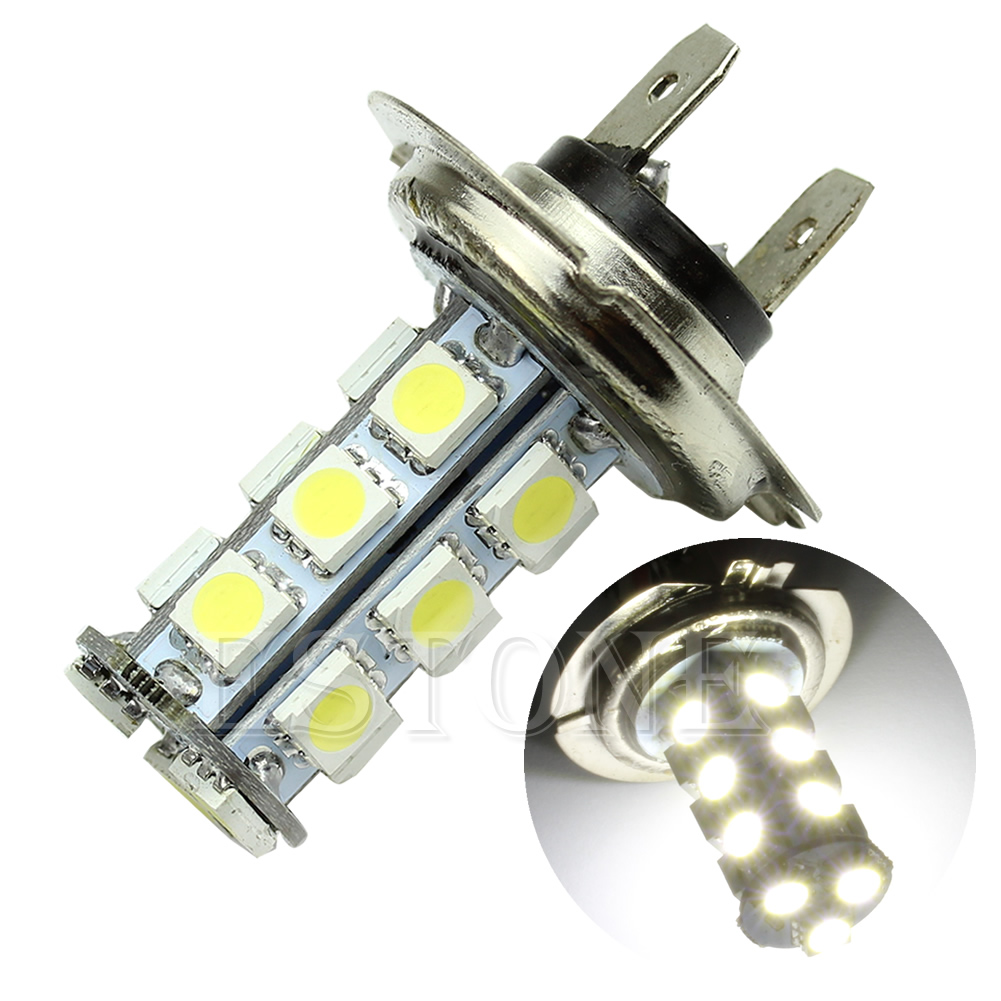 H7 5050 18-SMD LED Pure White Car Vehicle Bulbs Fog Driving Daytime Light Lamp Car Accessories