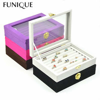 FUNIQUE Fashion Jewelry Display Velvet Earrings Ring Organizer Ear Studs Jewelry Display Stand Holder Rack Showcase