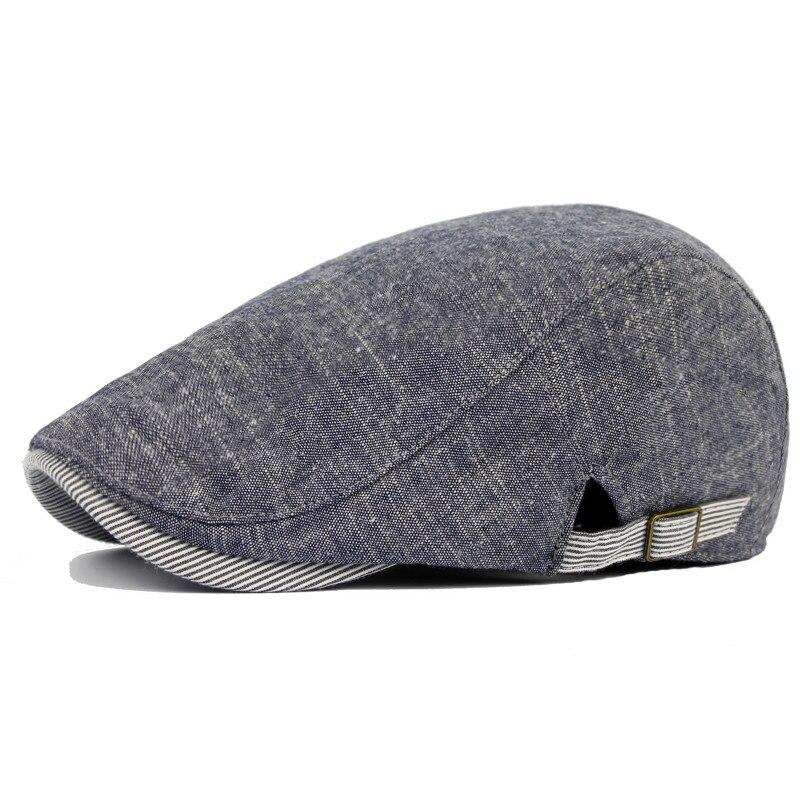 DT588 Fashion Classic Bavlna Gatsby Newsboy Cap Men Jaro Podzim Ivy Hat Driving Flat Cabbie Flat Unisex Barets Hat Caps Gorras