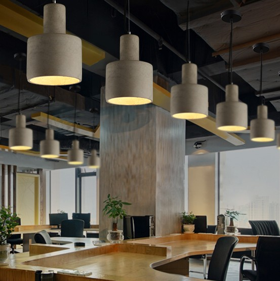 Industrial Loft Style Creative Cement Droplight LED Vintage Pendant Light Fixtures For Dining Room Bar Hanging Lamp Lampara iwhd style loft industrial vintage lighting hanging lamp led cement rotro light fixtures bedroom living room kitchen lampara