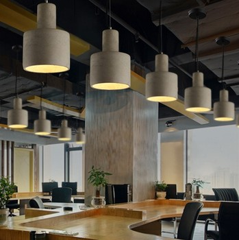 Industrial Loft Style Creative Cement Droplight LED Vintage Pendant Light Fixtures For Dining Room Bar Hanging Lamp Lampara