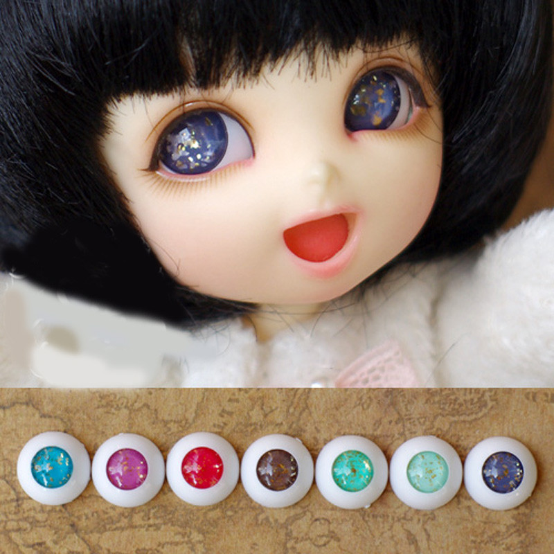 Colorful doll eyes for 1/3 1/4 1/6  bjd  Dolls toys sd red blue purple green eyeball 8mm 16mm 18mm 20mm Acrylic EYEs for dolls new 1 3 bjd wig purple short shtaight hair doll diy for1 3 1 4 1 6 1 8 1 12 bjd sd dollfie