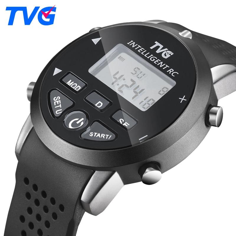 Quartzo Relógio Digital de TVG Marca Homens Esportes Relógios de Silicone À Prova D' Água Inteligente Controle Remoto Cópia Relógios Homens KM118