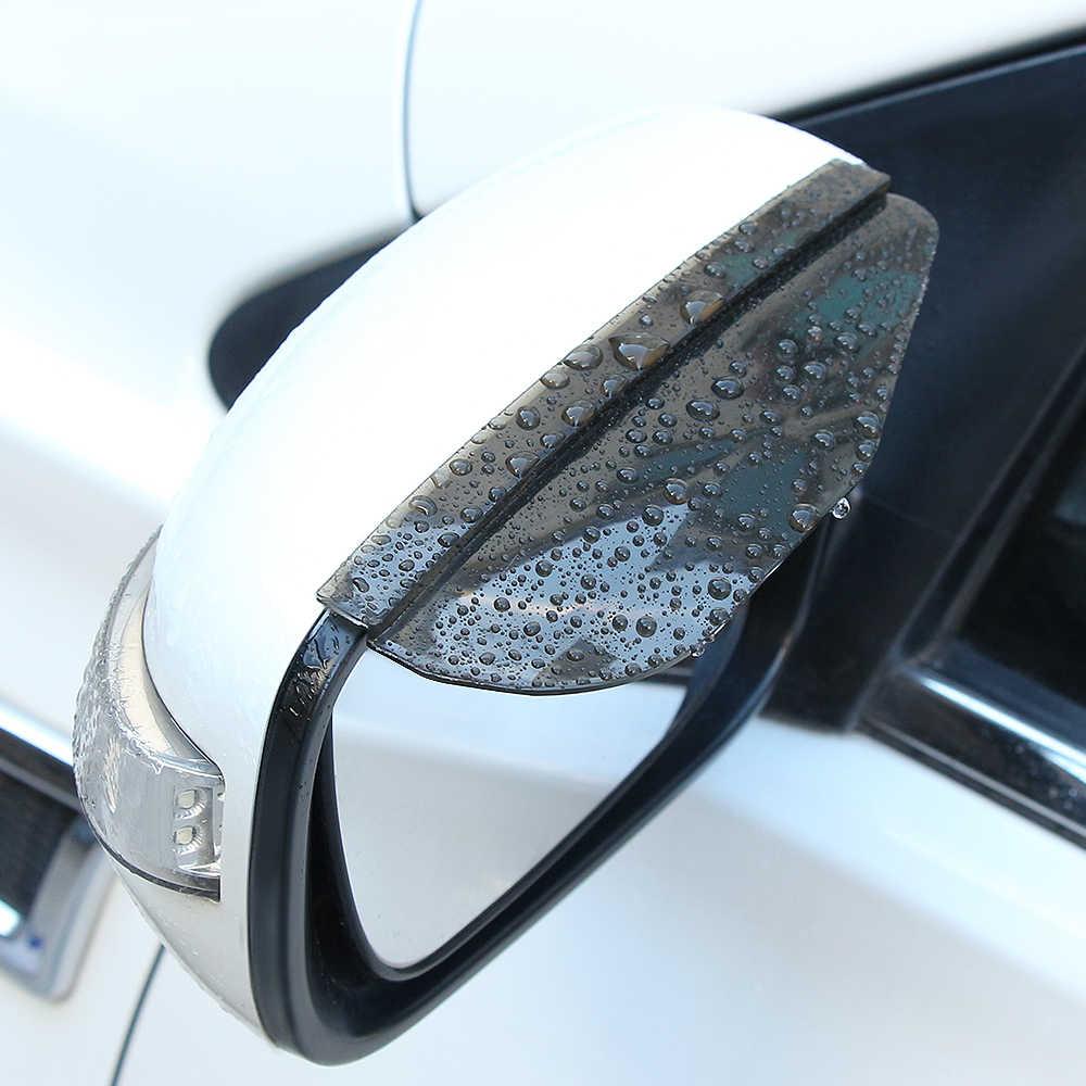 2 pcs سيارة التصميم PVC سيارة مرآة الرؤية الخلفية ملصقا المطر الحاجب لسولاريس لادا كيا تويوتا هيونداي creta لادا كالينا مازدا 3
