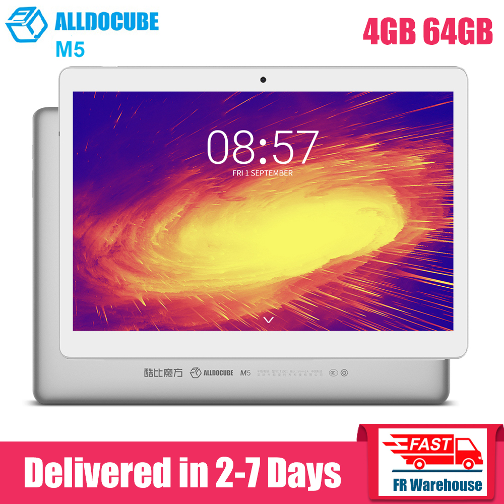 ALLDOCUBE M5 4G 10.1 Inch Tablet Android 8.0 MTK X20 Deca Core 4GB 64GB Dual WiFi 5.0MP 2.0MP Dual Cameras Bluetooth 4.2 Tablets