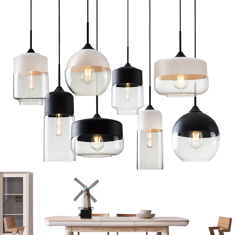 Nordic Minimalist Living Room Bar Glass Pendant Light Post Modern Cafe led Lighting Personality Restaurant Bedroom Pendant lamps цена