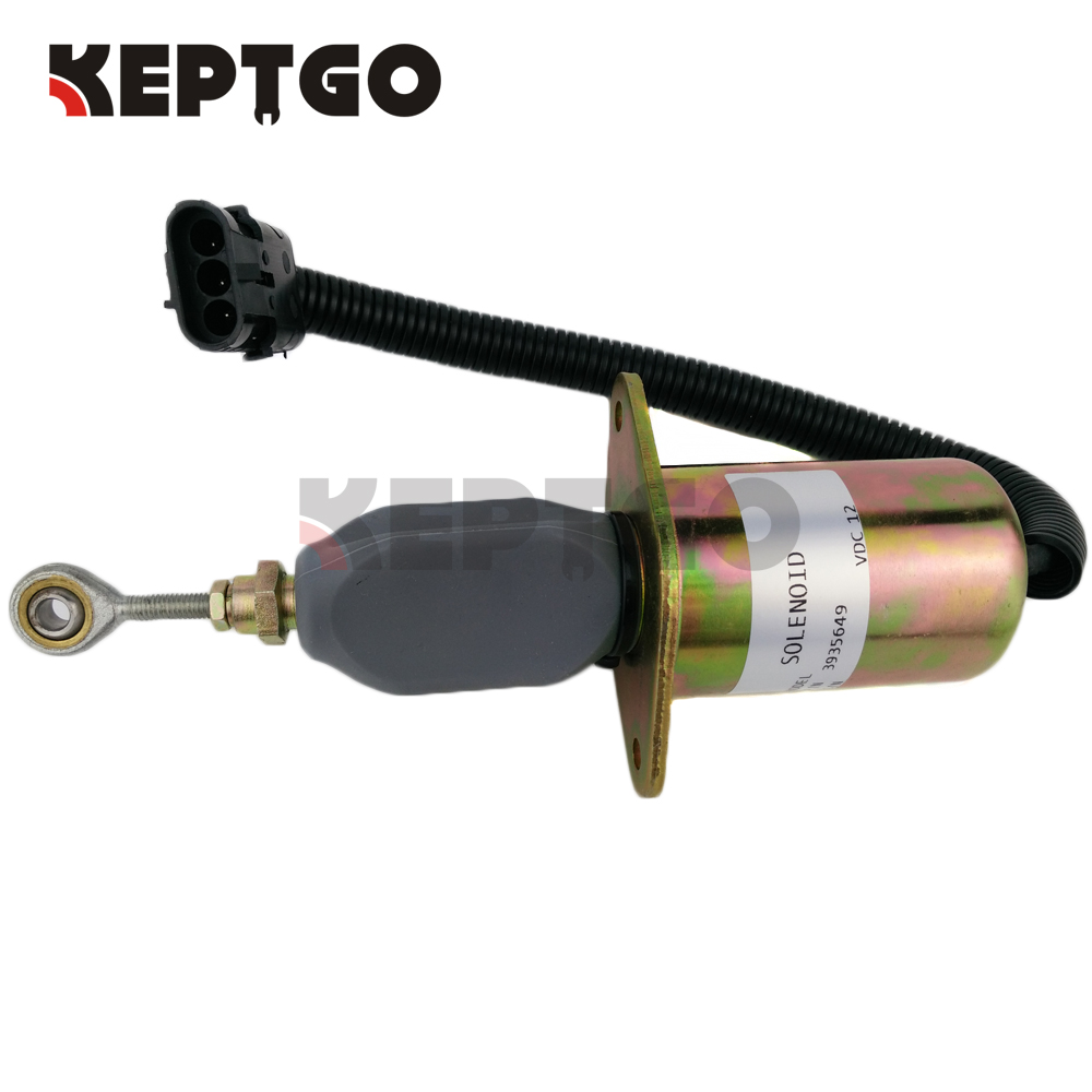 12V 3935649 SA-4764-12 Diesel Fuel Shut Down Stop Solenoid For Cummins 6CT fuel stop solenoid 12v mv1 70 897183 0140 for hitachi excavator ex50u isuzu 4le2 8971830140