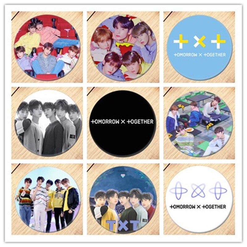 1 Stücke 2019 Kpop Txt Morgen X Zusammen Album Abzeichen Brosche Pins Sammlung Abzeichen Für Rucksäcke Dekoration 19091