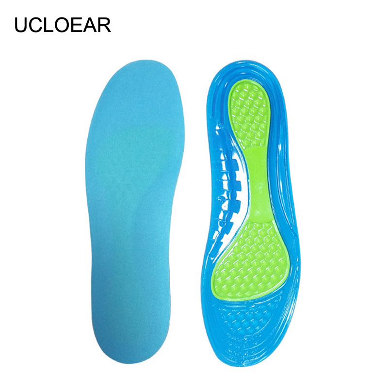 Sport Silicone Insoles Anti-Slippery Foot Massage Running Gel Insoles Comfortable Insole Soft High-ElasticShoes Pad XD-088