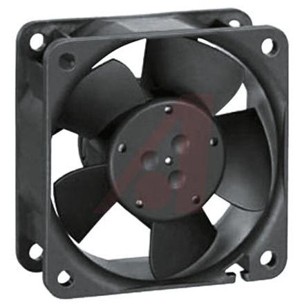 Ebmpapst Cooling Fan, Size 60 X 60 X 25.4mm 12 V DC, Air Flow 56m3/h, 6800rpm