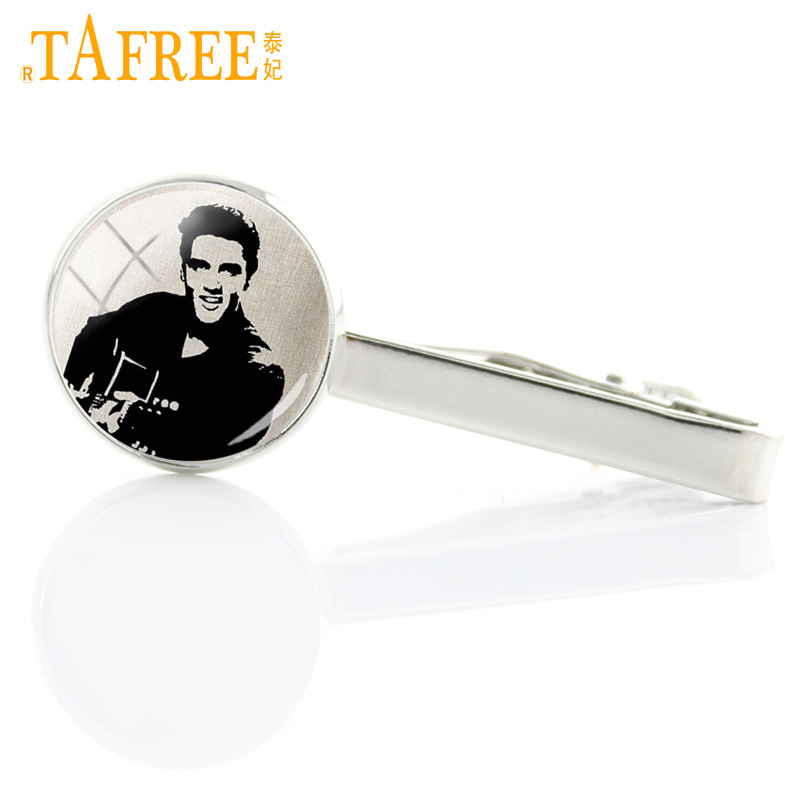 Black Elvis Presley enamel pin badge the king