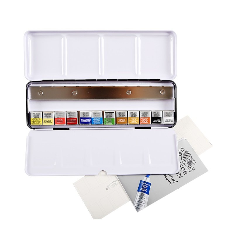 WINSOR&NEWTON 12/24 colors Senior painter artist special Professional Water Colour pigment art drawing paint made in france british import 24 colors gouache paint painter special 24 colors water gouache pigment set advertising pigment